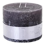 Rustic Swish Grey block candle 9x12