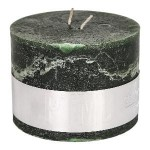 Rustic Dark Green block candle 9x12