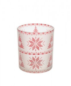 Świecznik na votive Red nordic frosted glass - Yankee Candle