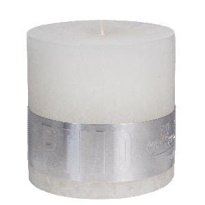 Rustic Hot White block candle 10x10