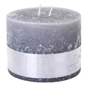 Rustic Suede Grey block candle 9x12