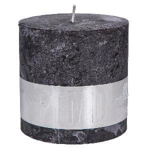 Rustic Charcoal Black block candle 10x10