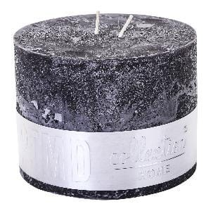 Rustic Charcoal Black block candle 9x12