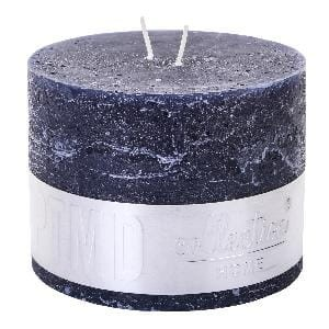 Rustic Night Blue block candle 9x12