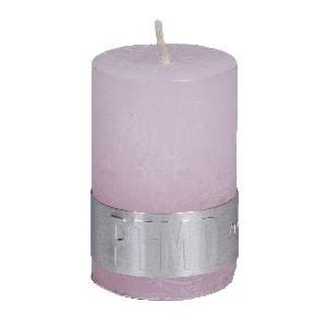 Rustic New Pink pillar candle 6x4