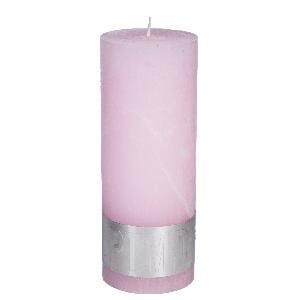 Rustic New Pink pillar candle 18x7