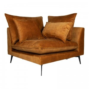 Sofa Flow kątna Adroa Gold PTMD Collection
